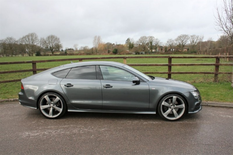 used Audi A7 TDI QUATTRO S LINE BLACK EDITION in aldershot-hampshire