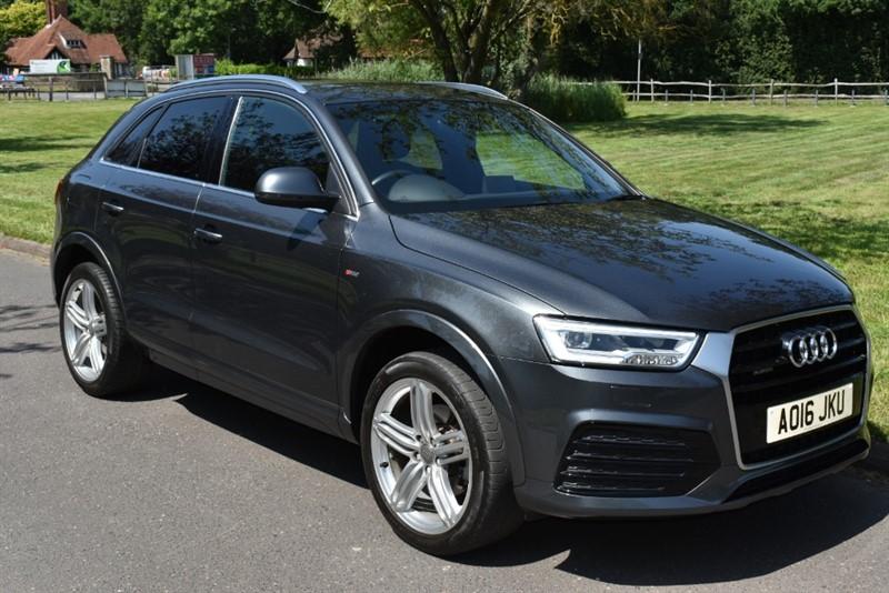 used Audi Q3 TFSI QUATTRO S LINE PLUS ( SAT NAV &BLACK LEATHER) in aldershot-hampshire