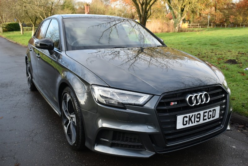 used Audi S3 SPORTBACK TFSI QUATTRO BLACK EDITION in aldershot-hampshire