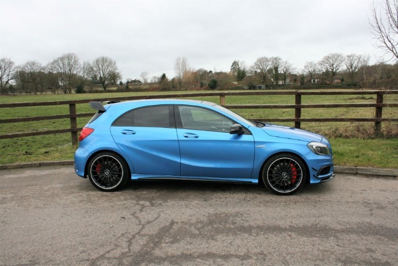 used Mercedes A45 AMG 4MATIC (AERO DYN PACK, PANO RROF, FULL MBSH, SAT NAV) in aldershot-hampshire