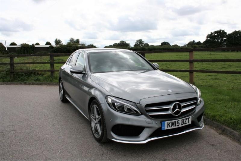 used Mercedes C250 BLUETEC AMG LINE PREMIUM( PANO ROOF + SAT NAV + ELEC SEATS) in aldershot-hampshire