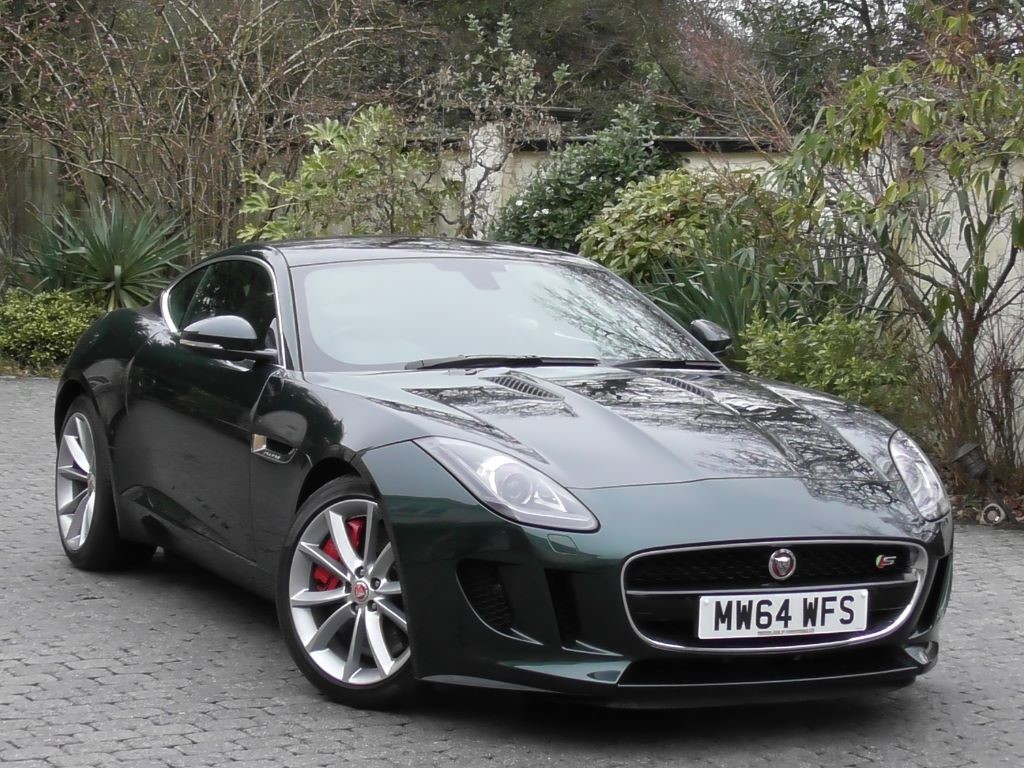 used british racing green met with black leather jaguar f type for sale surrey. Black Bedroom Furniture Sets. Home Design Ideas