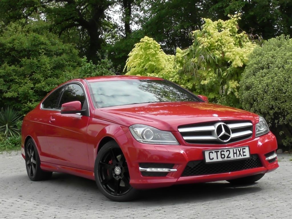used fire opal red with black leather mercedes c350 for sale surrey. Black Bedroom Furniture Sets. Home Design Ideas
