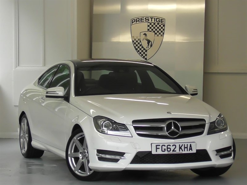 used Mercedes C180 BlueEFFICIENCY AMG Sport Plus 7G Auto Coupe in windlesham-surrey