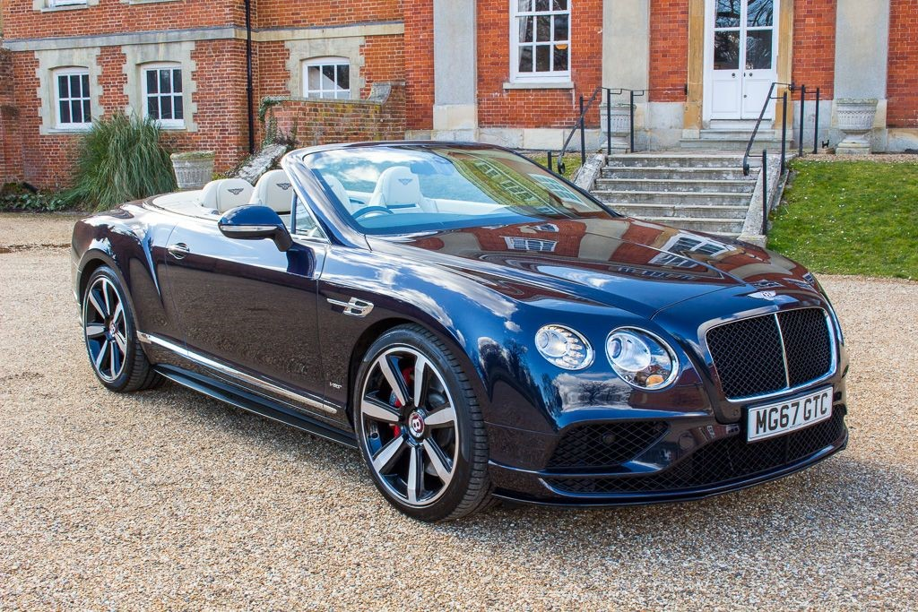 used Bentley Continental GT 4.0 V8 S CONVERTIBLE MULLINER DRIVING SPEC (SAT NAV) in Hampshire