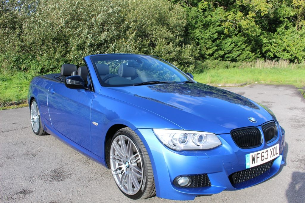 used BMW 320d M SPORT CONVERTIBLE 6 SPEED (SAT NAV) in Hampshire