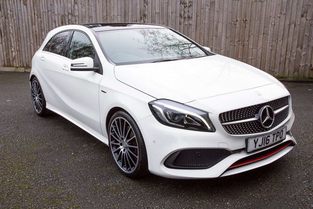 used Mercedes A250 4MATIC SPORT EDITION AMG PREMIUM AUTO (SAT NAV) in Hampshire