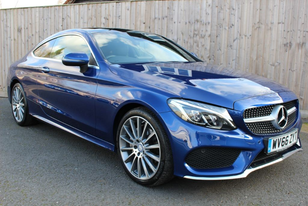 used Mercedes C220 2.1D AMG LINE PREMIUM PLUS COUPE (SAT NAV) in Hampshire