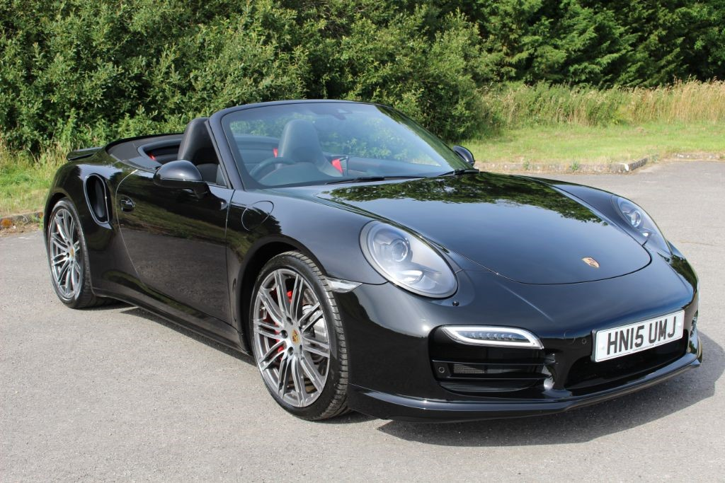used Porsche 911 991 TURBO PDK CONVERTIBLE (SAT NAV) in Hampshire