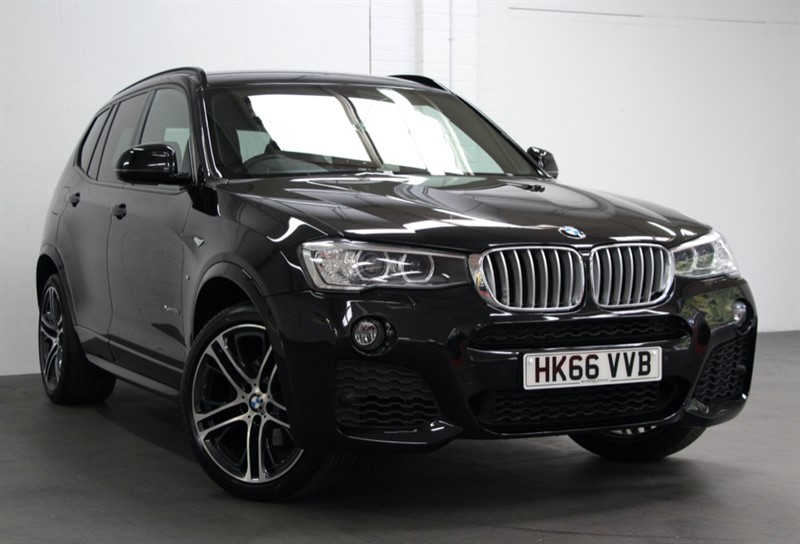 used BMW X3 XDrive 35D M Sport Plus [313] (PRO NAV, BLACK DAKOTA LEATHER !! in west-byfleet-surrey
