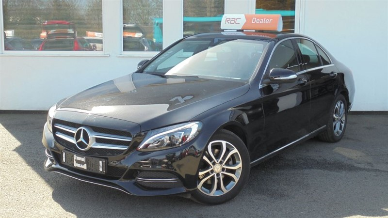 used Mercedes C200 SPORT *Black Leather+Sat Nav+Park Assist* in WIRRAL