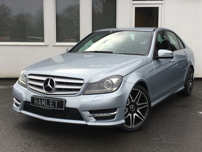 used Mercedes C220 CDI BLUEEFFICIENCY AMG SPORT PLUS**Full History+Half Leather+Park Sensors** in WIRRAL