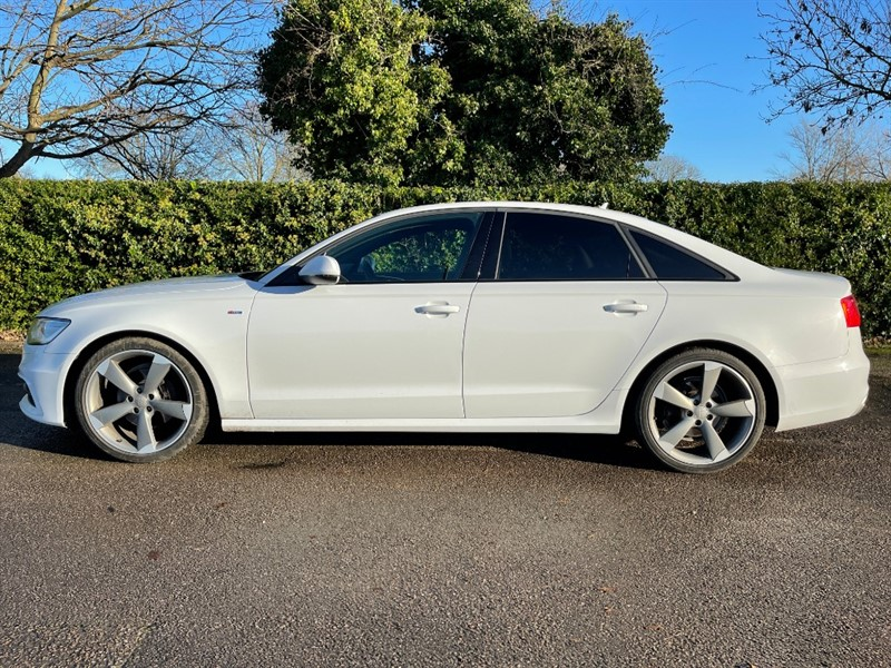 used Audi A6 TDI ULTRA S LINE BLACK EDITION in hampton-court-surrey