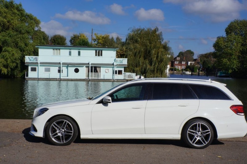 used Mercedes E220 CDI AMG SPORT in hampton-court-surrey