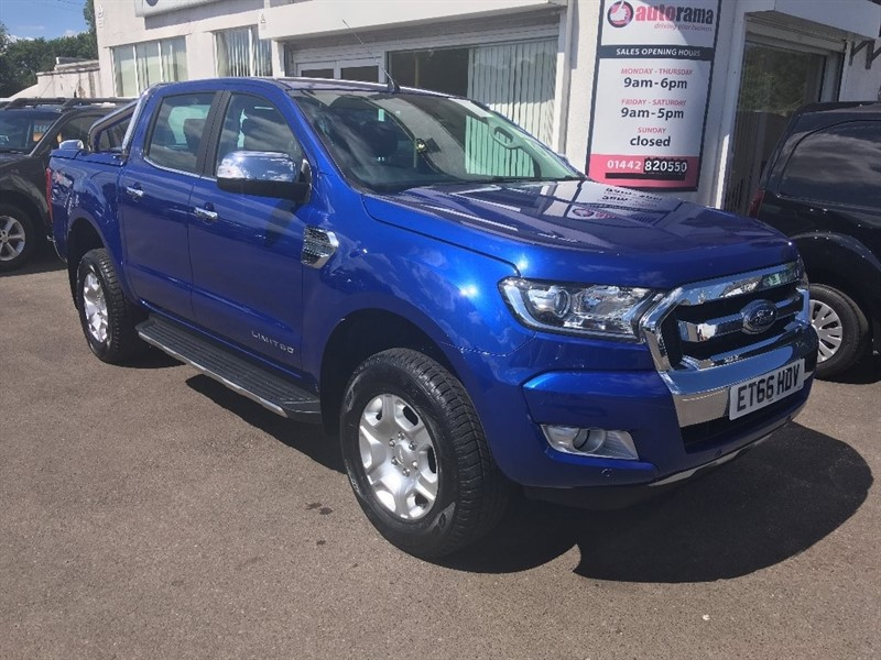 used Ford Ranger TDCi Limited 2 Double Cab Pickup 4x4 4dr (EU6) in hertfordshire