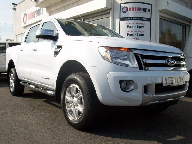 used Ford Ranger TDCi (EU5) Limited Double Cab Pickup 4x4 4dr in hertfordshire