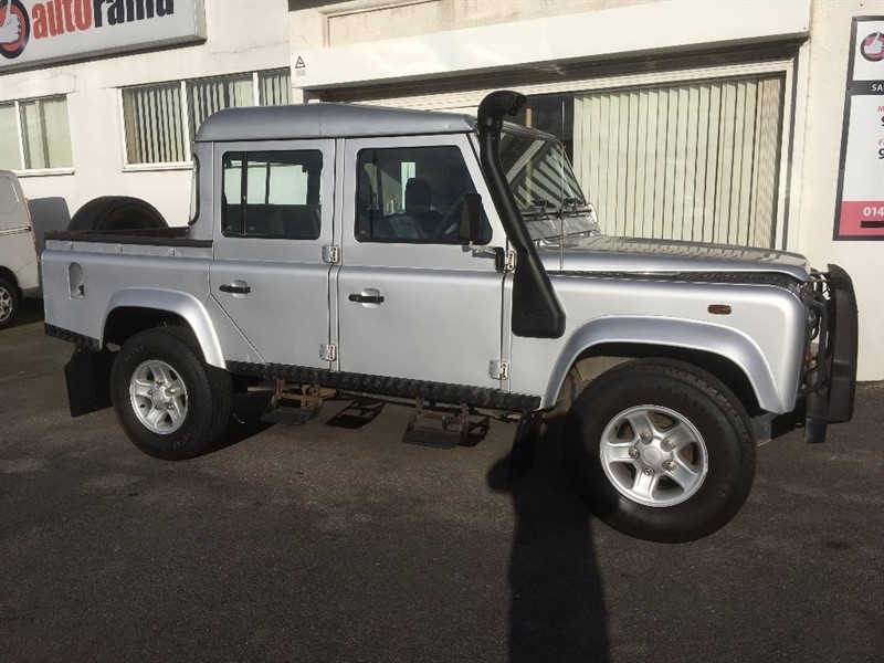 used Land Rover Defender 110 TD5 Silver Double Cab 4dr in hertfordshire