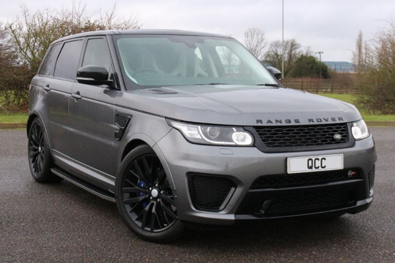 used Land Rover Range Rover Sport 5.0 V8 SUPERCHARGED SVR AUTO BLACK STEALTH PACK in essex-for-sale