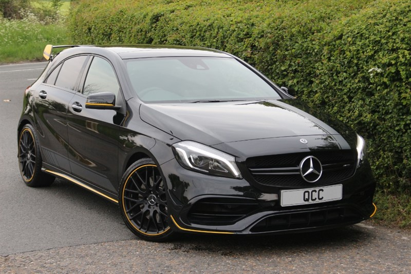 used Mercedes A45 AMG 2.0 4MATIC YELLOW NIGHT EDITION in essex-for-sale