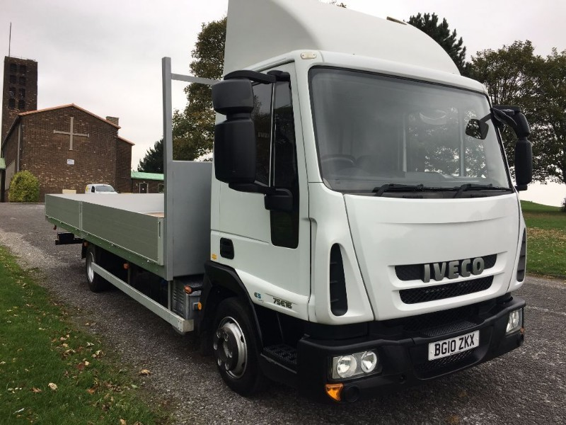 used Iveco Euro Cargo 75E16S 7.5T 21ft Scaffold Dropside in walsall
