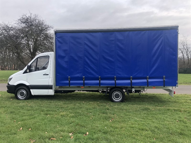 used Mercedes Sprinter 313 3.5T **EXTRA LONG**17FT (5M) CURTAIN SIDE *NEW BODY* in walsall