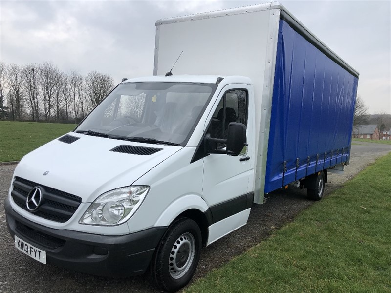 used Mercedes Sprinter 3.5T **EXTRA LONG**20FT (6M) CURTAIN SIDE *NEW BODY* in walsall