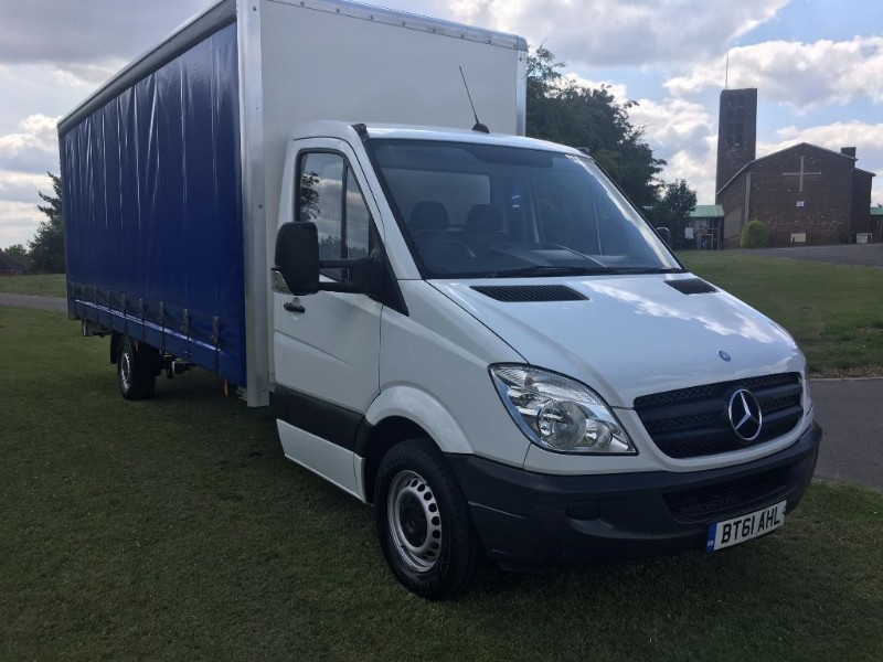 used Mercedes Sprinter 313 3.5T **EXTRA LONG**20ft (6m) Curtain Side *New Body* in walsall
