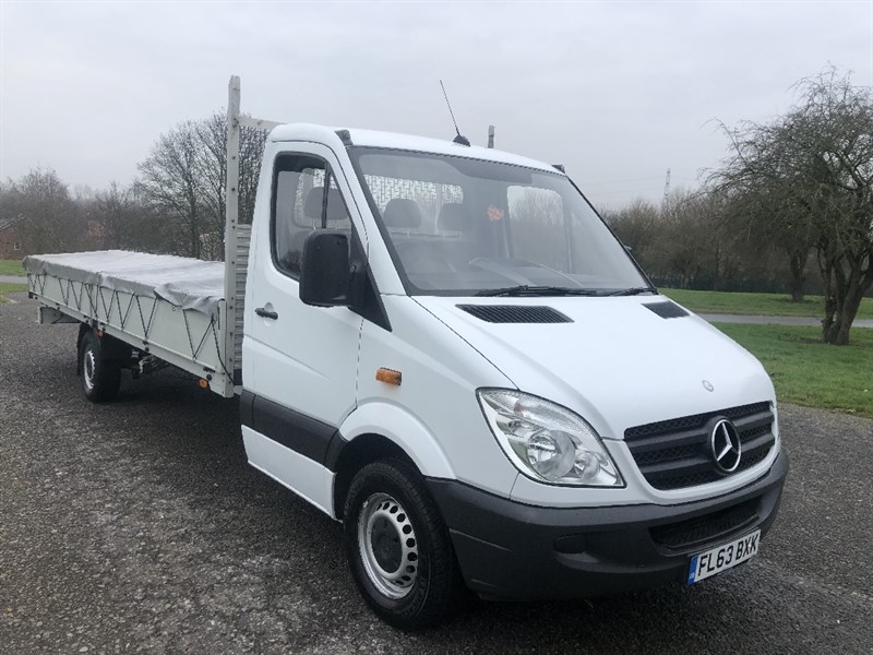 used Mercedes Sprinter 313 CDI XLWB 20ft (6.1m) Dropside Only 52696 Miles in walsall