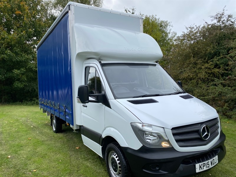 used Mercedes Sprinter 313Cdi 3.5t. New 17ft x 9ft High Curtain Side/Luton Body, Exceptional in walsall