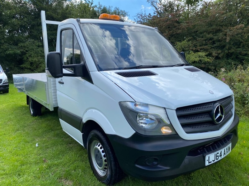 used Mercedes Sprinter 313Cdi 3.5T New 17FT (5M.) **EXTRA LONG ** Dropside, Only 37680 Miles, Really Nice in walsall
