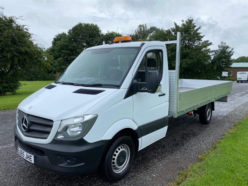 used Mercedes Sprinter 313Cdi 3.5T New 17FT (5M.) ***EXTRA LONG *** Dropside Body, 1 Owner in walsall