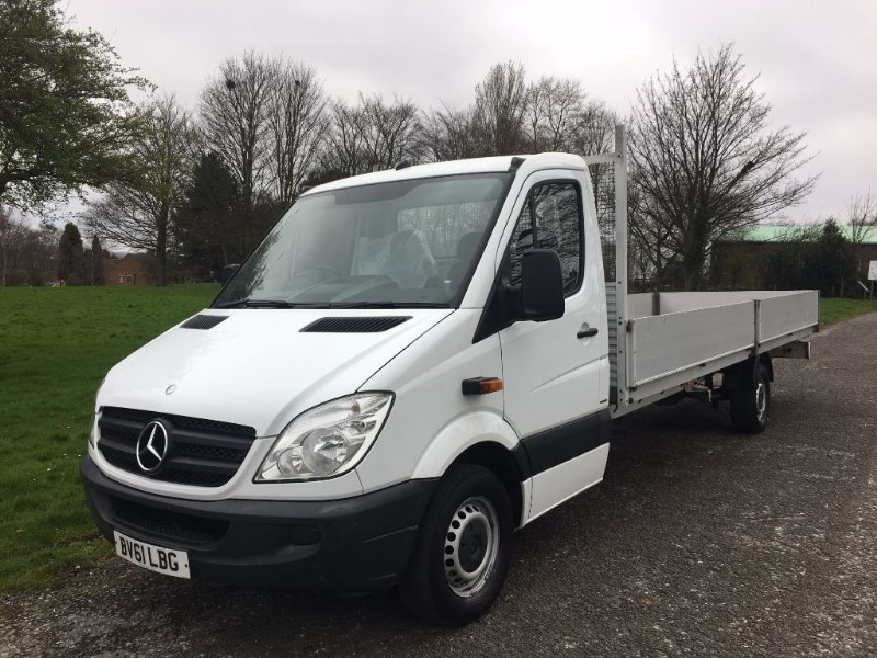 used Mercedes Sprinter 313 CDI 3.5T Dropside Extra Long 6 Metre Load Length 19ft 10ins in walsall