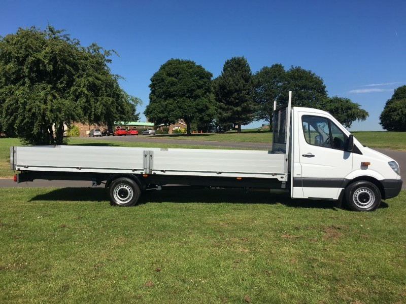 used Mercedes Sprinter CDI 3.5T Dropside Extra Long 6 Metre Load Length 19ft 10ins in walsall