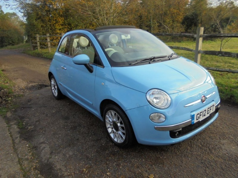 used Fiat 500 1.2 C LOUNGE CONVERTIBLE in leatherhead-surrey