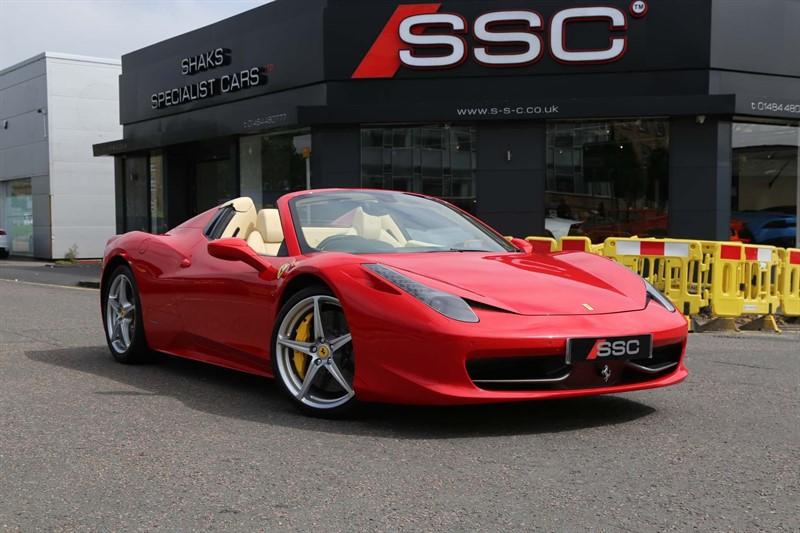 used Ferrari 458 Spider Auto Seq in huddersfield-west-yorkshire