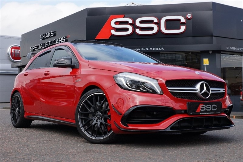 used Mercedes A45 AMG A Class 2.0 (Premium) Speedshift DCT 4-MATIC 5dr (start/stop) in yorkshire