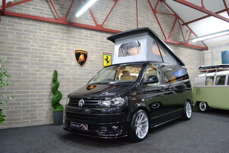 used VW Transporter T5 t6 TDI 140 BHP A/C T/GATE H/LINE CAMPERVAN 4 BERTH POPTOP in birstall