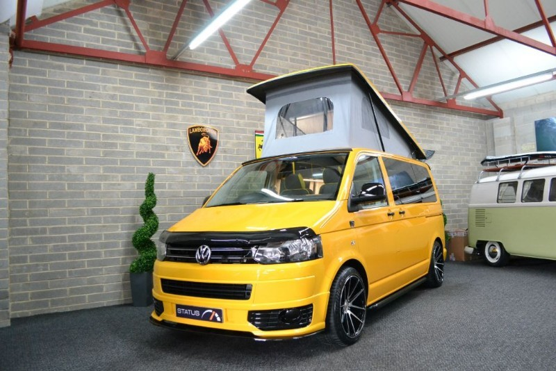 used VW Transporter T5 t6 TDI AURORA EDITION A/C T/GATE CAMPERVAN 4 BERTH POPTOP in birstall