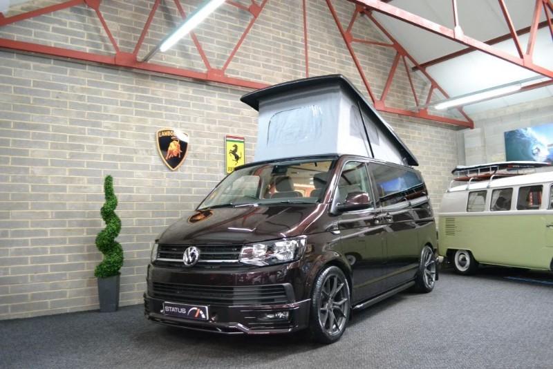 used VW Transporter T6 t5 TDI AURORA EDITION T/GATE H/LINE CAMPERVAN 4 BERTH POPTOP in birstall