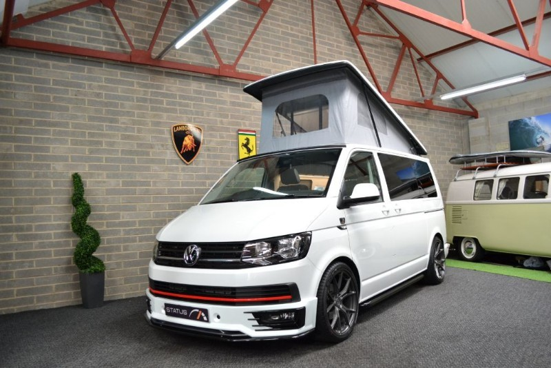 used VW Transporter T6 t5 TDI 150PS AURORA EDITION ORYX WHITE H/LINE CAMPERVAN 4 BERTH POPTOP in birstall