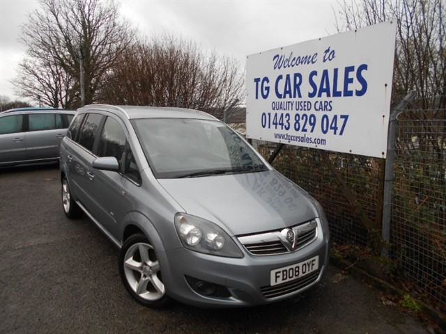 used Vauxhall Zafira SRI in blackwood-gwent