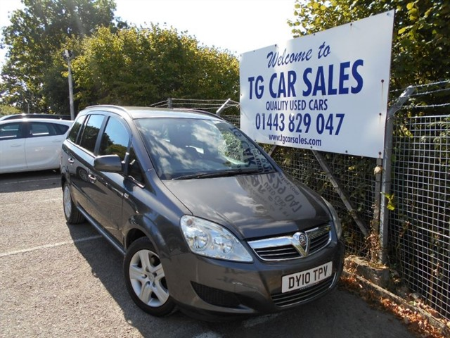 used Vauxhall Zafira Exclusiv in blackwood-gwent