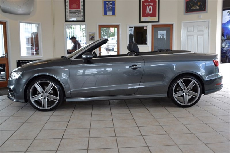used Audi A3 2.0 TDI S LINE CONVERTIBLE WITH NAVIGATION in forest-of-dean-gloucestershire