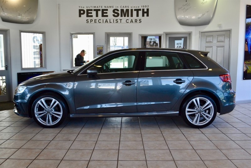 used Audi A3 2.0 TDI S LINE SPORTBACK S-TRONIC AUTO 5 DOOR PANORAMIC ROOF NAVIGATION 2014/14 in forest-of-dean-gloucestershire
