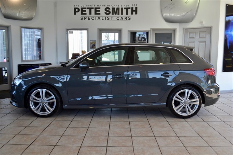 used Audi A3 2.0 TDI S LINE SPORTBACK 5 DOOR ONLY 22000 MILES FACELIFT MODEL APPLE CAR PLAY NAVIGATION  2016/66 in forest-of-dean-gloucestershire