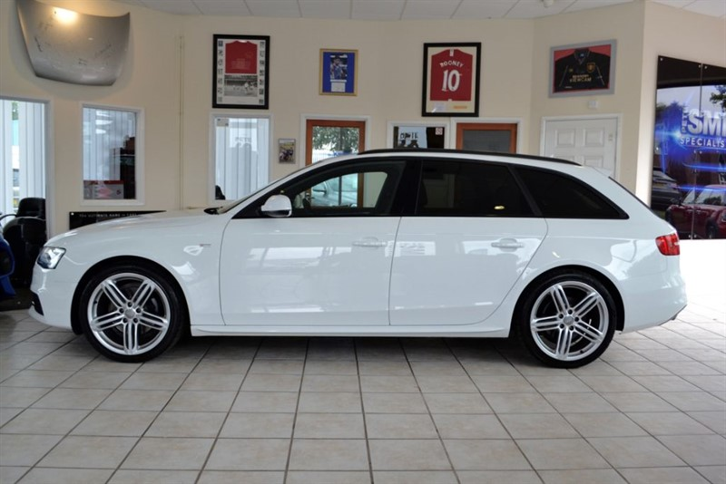 used Audi A4 Avant 2.0 TDI QUATTRO S LINE BLACK EDITION WITH NAVIGATION in forest-of-dean-gloucestershire