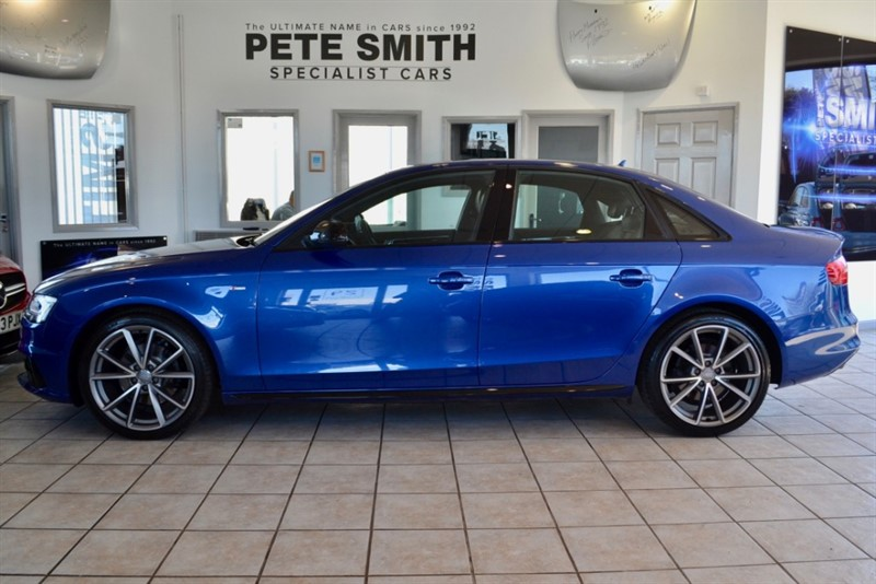 used Audi A4 2.0 TDI S LINE BLACK EDITION NAVIGATION 2015/15 FINISHED IN SPECIAL ORDER SEPANG BLUE METALLIC in forest-of-dean-gloucestershire