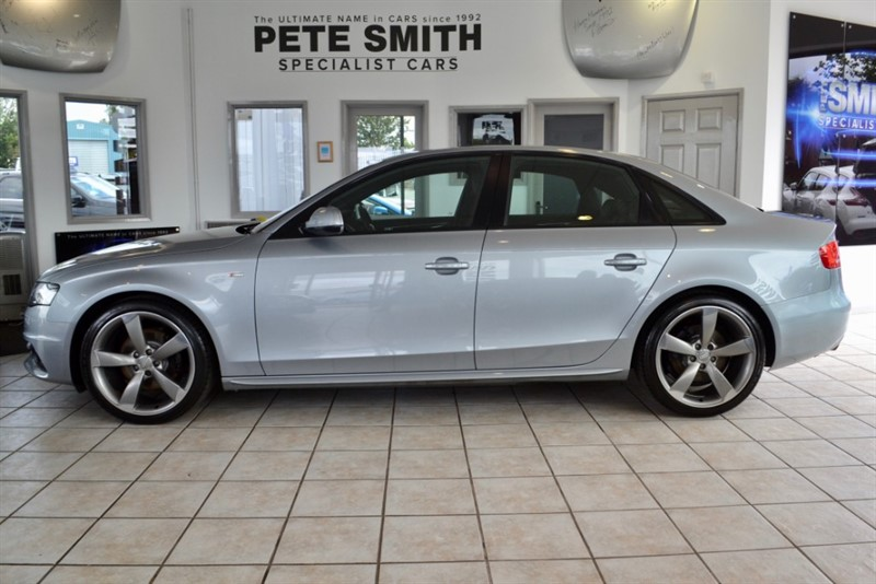 used Audi A4 2.0 TDI S LINE BLACK EDITION 4 DOOR  WITH TURBINE ALLOYS AND A FULL SERVICE HISTORY 2011/61 in forest-of-dean-gloucestershire