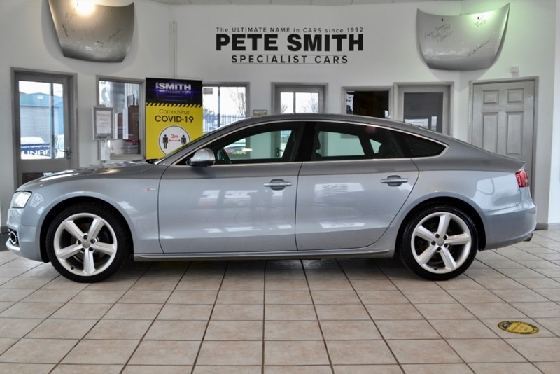 used Audi A5 SPORTBACK 2.0 TDI S LINE NAVIGATION AND BLACK LEATHER 2011/60 in forest-of-dean-gloucestershire
