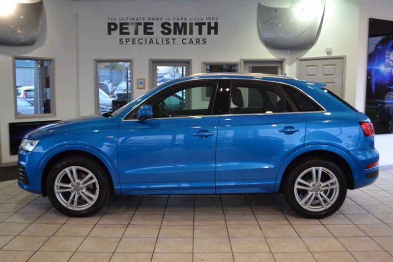 used Audi Q3 2.0 TDI S LINE 5 DOOR JUST 35000 MILES WITH NAVIGATION IN HAINAN BLUE 2015/15 in forest-of-dean-gloucestershire